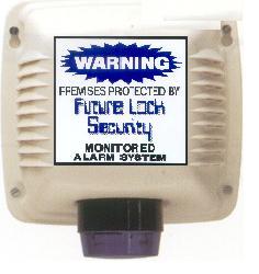 siren monitored sticker box